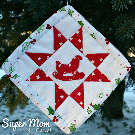 Sawtooth Star with Applique Center Ornament Tutorial