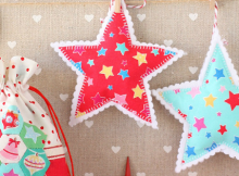 Simple Christmas Ornaments an Drawstring Bags