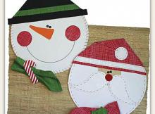 Christmas Fun Placemats, Napkins & Napkin Rings Pattern