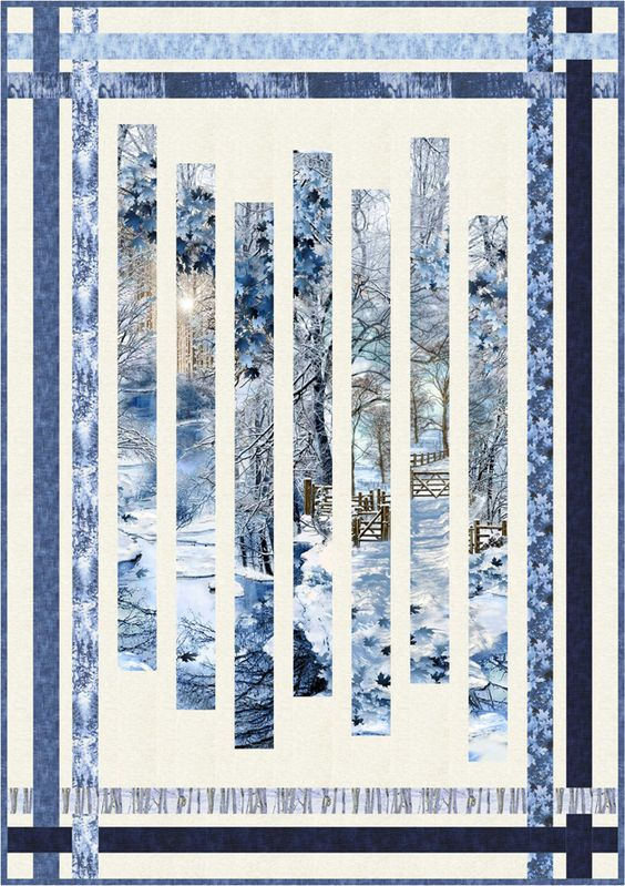 Scenic Snowfall Fracture Quilt