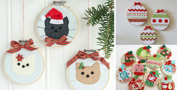 Decorating with Embroidery Hoops