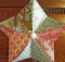 Fabric Origami Star Ornament Tutorial
