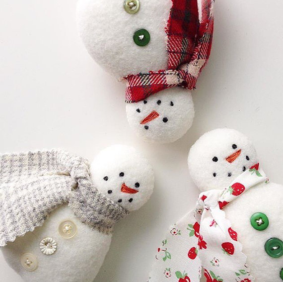 Sweet Snowman Ornaments Are So Quick to Make - Quilting Digest