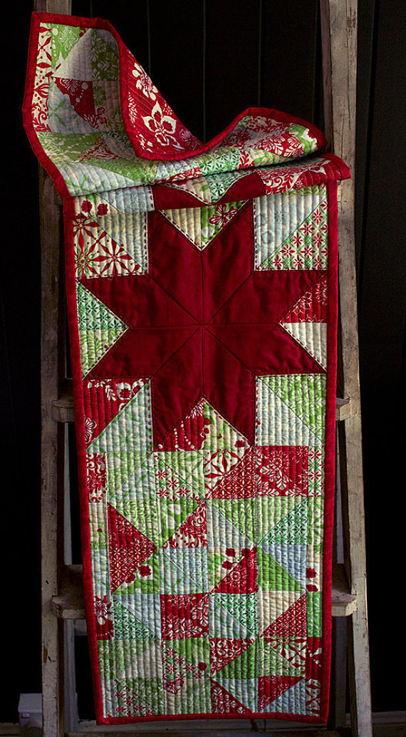 Modern Christmas Stars Tablerunner Pattern