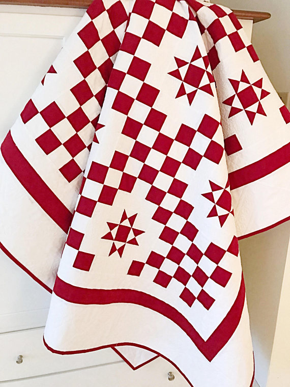 Red and White Quilt Pattern
