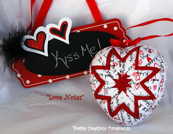 No Sew Quilted Heart Ornament