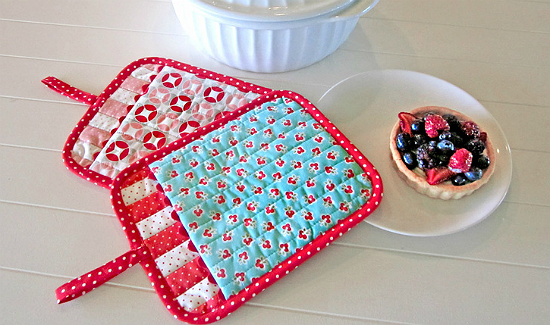 Patchwork Oven Mitts Tutorial