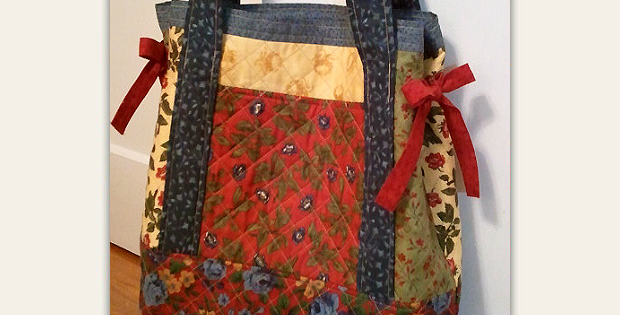 Miss Nancy's Patchwork Tote Bag - Simplified
