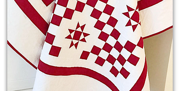 Red and White Christmas Quilt Pattern