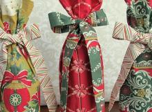 Fabric Wine Gift Bag Tutorial