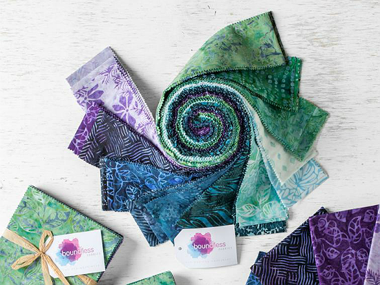 Boundless Batiks Lavender Fields Jelly Roll