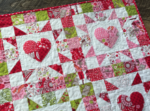 4-Patch Heart Mini Quilt Tutorial