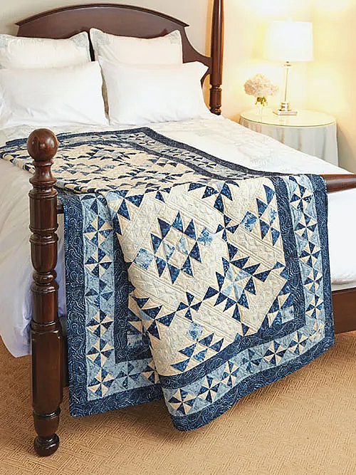 For You Blue Quilt Pattern