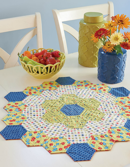 Sweet as Honey Quilted Centerpiece Pattern