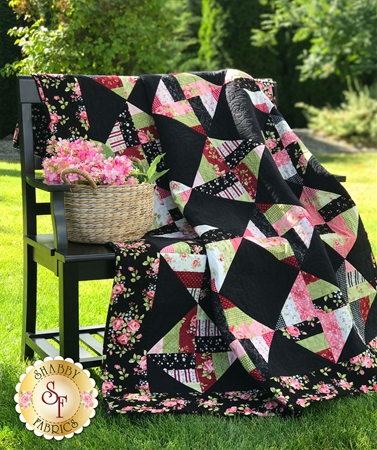 Spinning Rail Fence Quilt