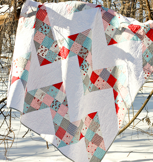 Patchwork Chevron Quilt Tutorial