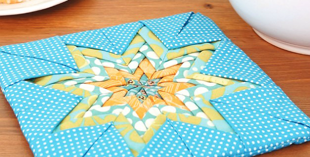 Folded Star Hot Pad Pattern