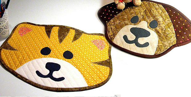 Kitty and Puppy Placemats Patterns