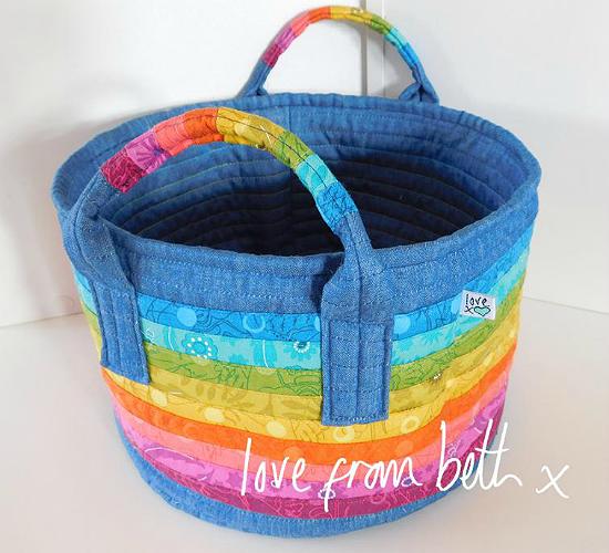 Rainbow Basket Pattern