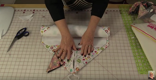 DIY Roll-Up Keeps Quilt Blocks and More Wrinkle-Free