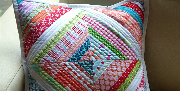 String Quilt a Lovely Pillow or Mini Quilt