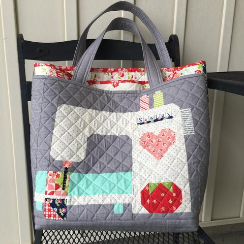 Nova Tote - Stitched With Love Mini Quilt