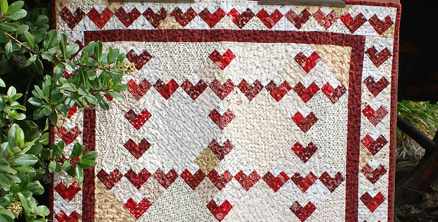 Valentine 9 Patch Quilt Tutorial
