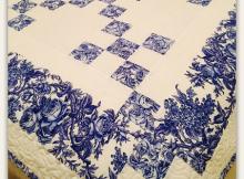 Delft Blue Chaining Nine Patch Quilt