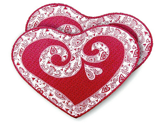 Sweethearts Valentine Placemats Pattern