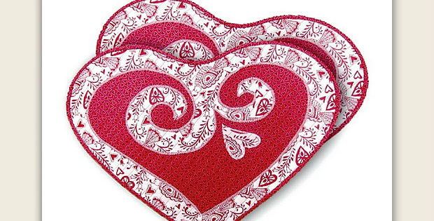 Easy Quilted Hearts Make Lovely Placemats - Quilting Digest