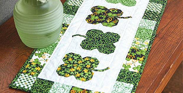 Luck O' the Irish Table Runner Pattern