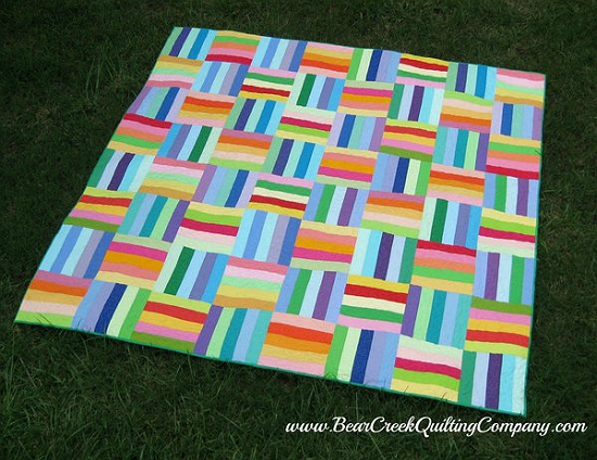 Colorful Solids Create A Beautiful Quilt Quilting Digest