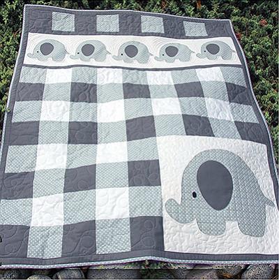 Petite Pachyderm Parade Quilt Pattern