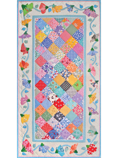 April Sweet Peas Table Runner Pattern