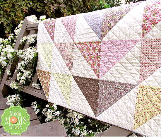 Bloomin' Throw Quilt Tutorial