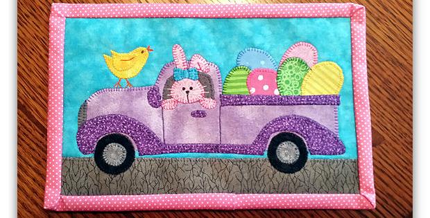Bunny-Mobile Mug Rug Pattern