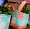 Fabric Basket Wall Planter Tutorial