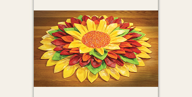 Sunflowers Table Topper Pattern