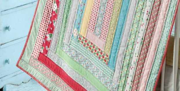 Jelly Roll Strips Make This Baby Quilt