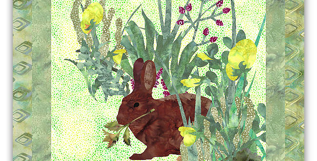 Bunny Brunch Art Quilt Pattern