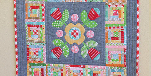 Cabin Posies Quilt Pattern