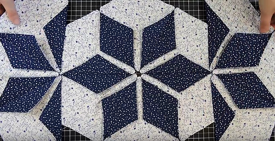 Dimensional Hexagon Table Runner