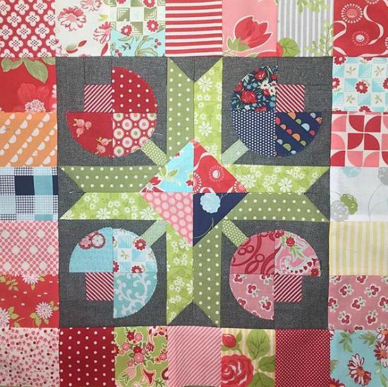 Flower Patch Mini Quilt Pattern