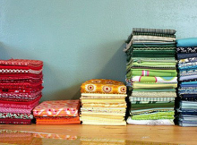 How to Fold Fabric so It Stacks Nicely
