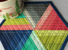 Hexi Mug Rug & Mini Quilt Tutorial