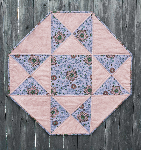 Octagon Table Topper with Star Pattern
