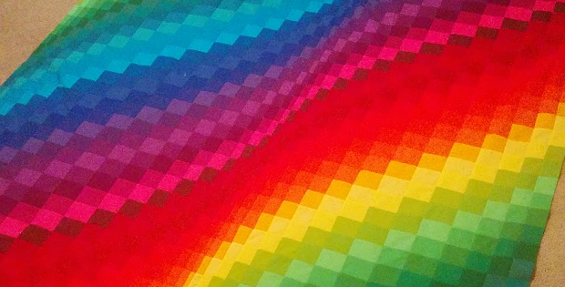 Rainbow Bargello Quilt Tutorial