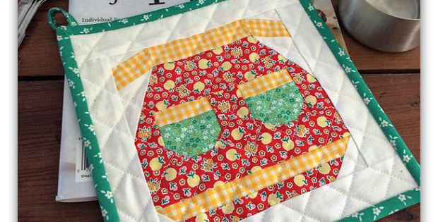 Vintage Apron Pot Holder Pattern