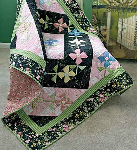 Windblown Blossoms Quilt Pattern