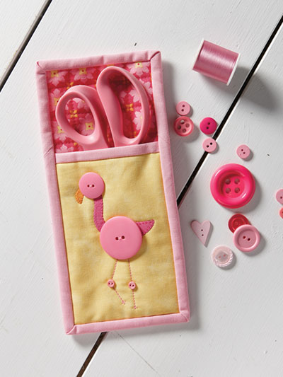 Flamingo Scissors Case Pattern